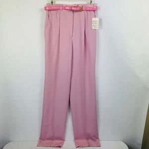 Basler Belted Wool Dress Pants  Size 6 Pink